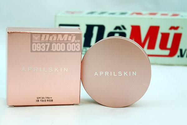 Phấn nước April Skin Magic Snow Cushion Pink SPF30++ PA+++ 15g của Hàn Quốc