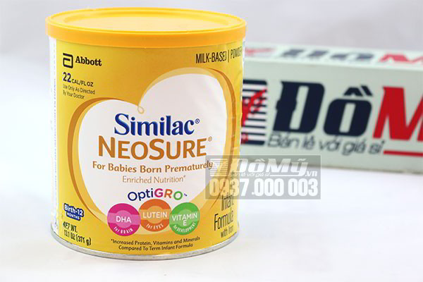 Sữa Similac NeoSure 371g của Mỹ