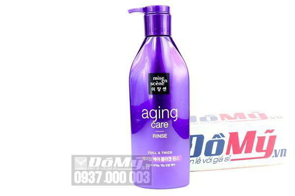 Dầu xả chống gãy rụng Mise En Scene Aging Care Rinse Full & Thick 530ml của Mỹ
