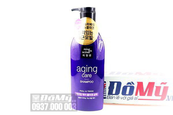 Dầu gội phục hồi và chống gãy rụng tóc Mise En Scene Aging Care Shampoo Full & Thick 530ml của Hàn Quốc