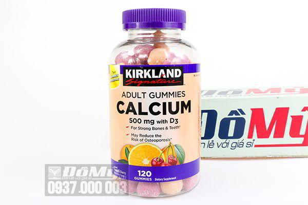 Kẹo dẻo bổ sung Canxi và Vitamin D Calcium D3 500mg Kirkland 120 viên của Mỹ