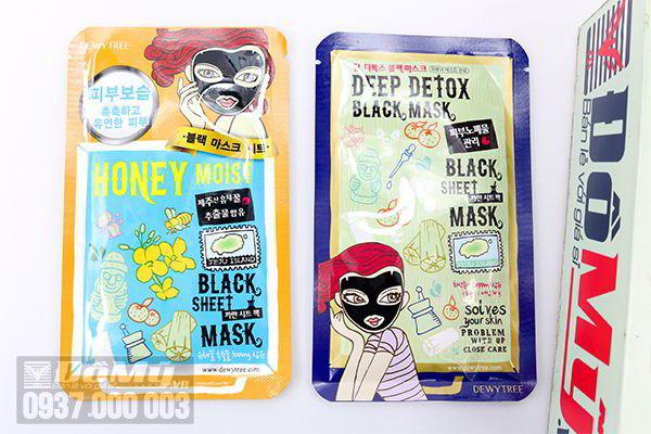 Mặt nạ đen Dewytree Black Sheet Mask của Hàn Quốc