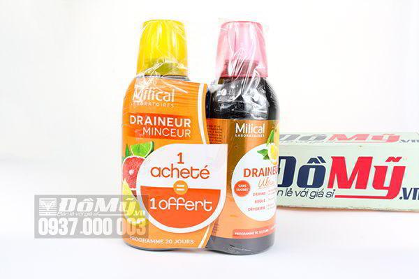 Nước trái cây Detox thải độc cơ thể Milical Draineur 500ml của Pháp