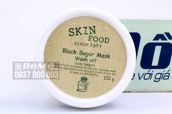 Mặt nạ đường đen Skinfood  Black Sugar Mask Wash Off 100g của Hàn Quốc