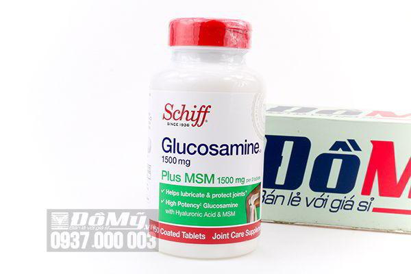 Viên uống bổ khớp Schiff Glucosamine Plus 1500mg SMS 150 viên của Mỹ