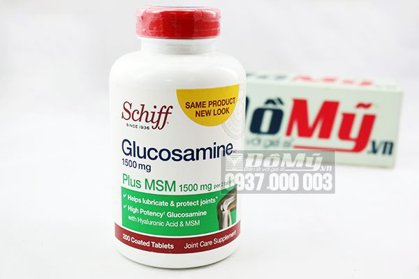 Viên uống trị viêm khớp Schiff ® Glucosamine 1500mg plus MSM + Joint Fluid của Mỹ