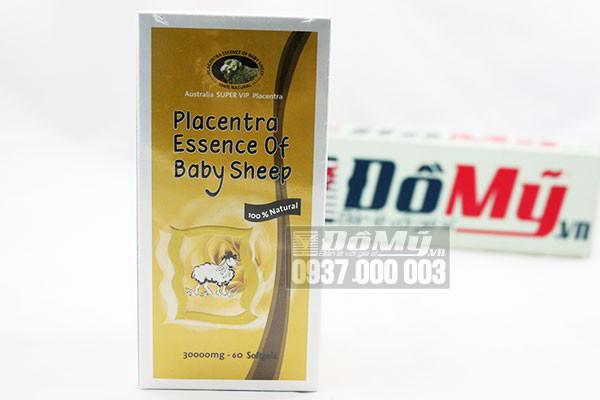 Viên uống Nhau Thai Cừu Placentra Essence Of Baby Sheep của Úc loại 30000mg 60 viên