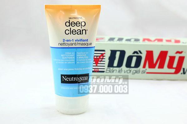 Sữa rửa mặt tẩy tế bào chết Neutrogena Deep Clean 2-en-1 150 ml của Pháp
