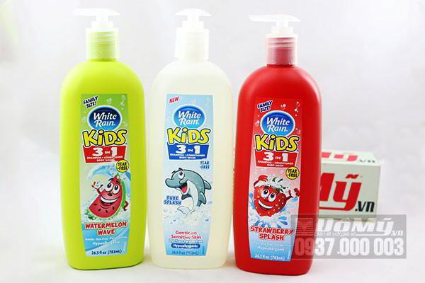 Sữa tắm gội xả 3 Trong 1 White Rain Kids 783ml của Mỹ