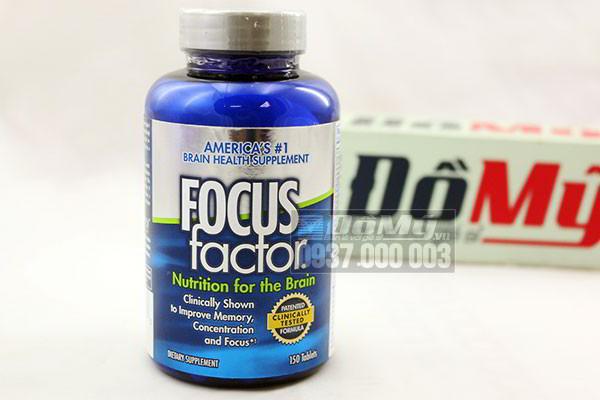 Viên uống giúp tăng cường trí nhớ, giảm stress Focus Factor 150 viên của Mỹ