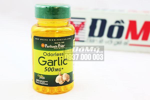 Tinh dầu tỏi của Mỹ Odorless Garlic Puritan's Pride 500mg 100 viên
