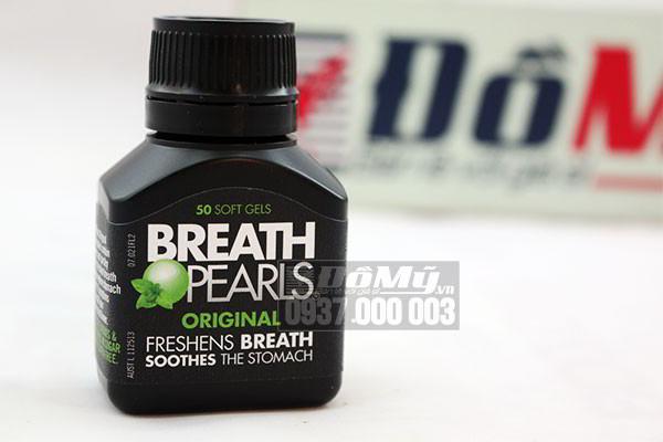 Viên uống thơm miệng Breath pearls 50 viên của Úc