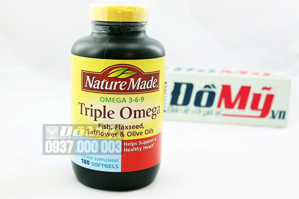 Viên uống Triple Omega 3 6 9 Nature Made hộp 180 viên của Mỹ