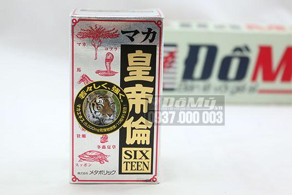 Viên uống Bổ Thận, Tráng Dương Tăng Cường Sinh Lý Maka Sixteen 200 viên của Nhật Bản