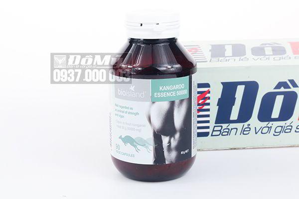 Viên uống tăng cường sinh lực cho nam giới Bio Island Kangaroo Essence 50000 của Úc