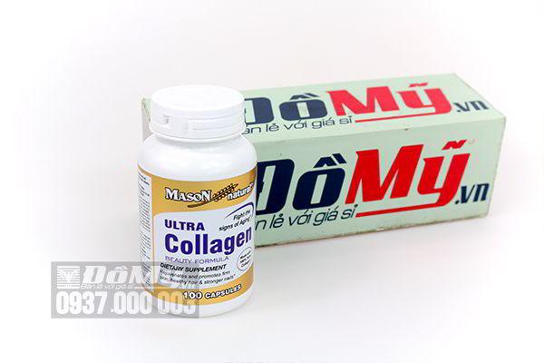Viên uống làm đẹp da toàn diện Ultra Collagen Mason 100 viên của Mỹ
