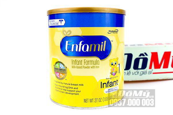 Sữa Enfamil Premium Infant Formula dành cho bé từ 0-12 tháng 765g của Mỹ