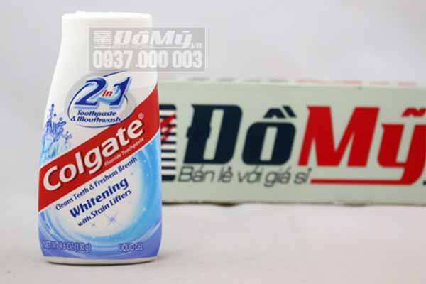 Kem đánh răng Colgate 2 in 1 Whitening with Stain Lifters 130g từ Mỹ
