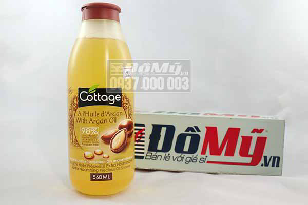 Sữa tắm Cottage chiết xuất tinh dầu Argan của Pháp loại 560ml