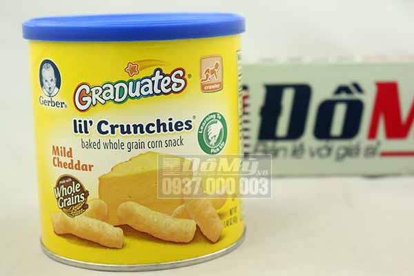 Bánh ăn dặm Gerber Graduates Lil' Crunchies - Mild Cheddar 42g từ Mỹ