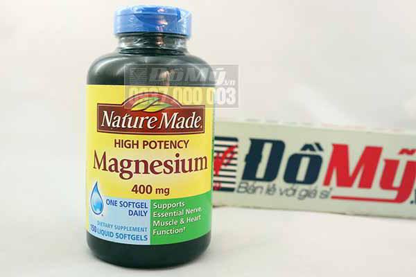 Bổ sung magie 150 viên High Potency Magnesium 400mg Mỹ