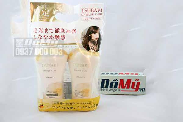 Bộ đôi dầu gội và xả Tsubaki trắng shiseido damage care dành cho tóc hư tổn 550ml/Chai từ Nhật