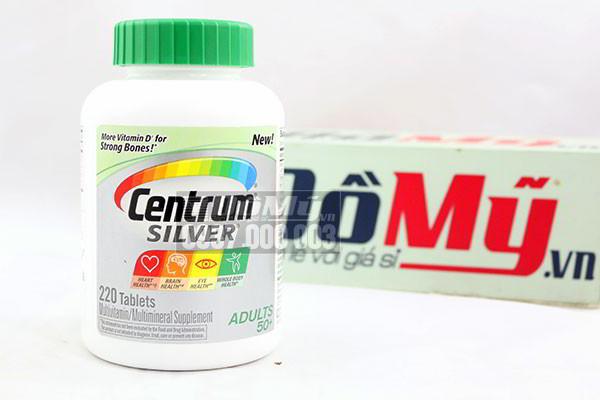 Vitamin tổng hợp Centrum Silver Adults 50+ - 220 viên
