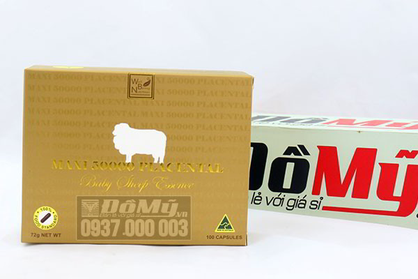 Nhau thai cừu maxi 50000 của Úc Placental Baby Sheep Essence loại 100 viên