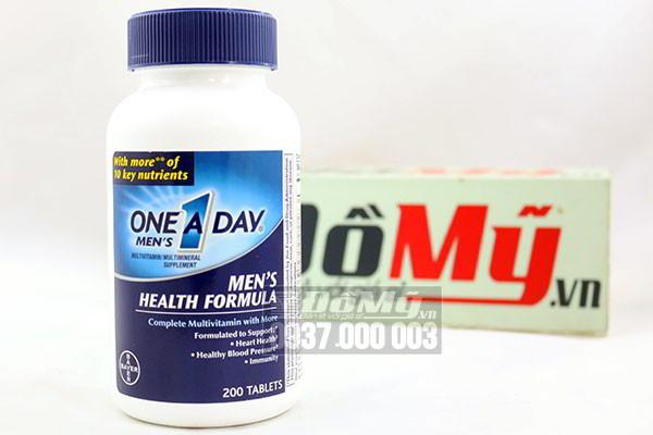 ONE A DAY Men Health Formula Vitamins 200 viên nhập từ Mỹ