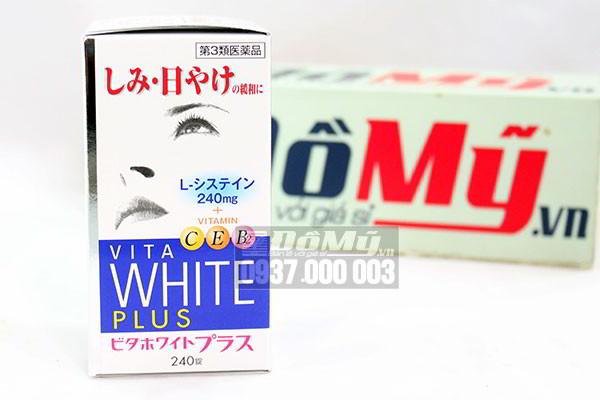 Viên uống làm trắng da, trị nám và tàn nhang VITA White Plus C.E.B2 của Nhật Bản