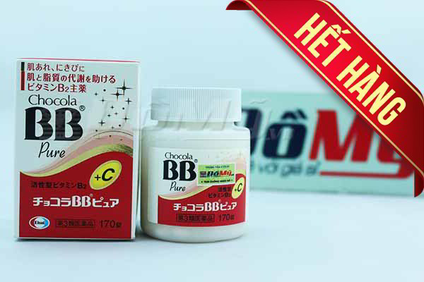 Viên uống trị mụn hiệu quả Chocola BB Pure hộp 170 viên của Nhật Bản