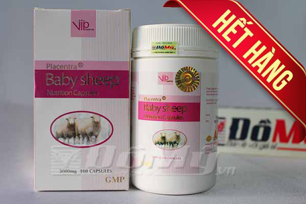 Nhau Thai Cừu giúp làm trắng da VIP BABY SHEEP của Úc loại 3000mg x 100 viên