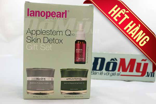 Bộ sản phẩm giải độc tố và tái tạo da của Úc Lanopearl Applestem Q10 Skin Detox Gift Set