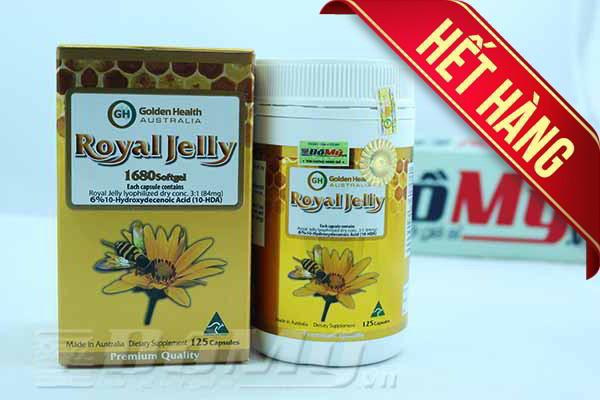 Sữa ong chúa chống lão hóa Golden Health 1680mg x 125 viên nhập từ Úc