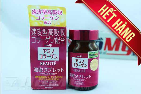 Viên uống chống lão hóa da Collagen meiji Beaute150 viên của Nhật Bản