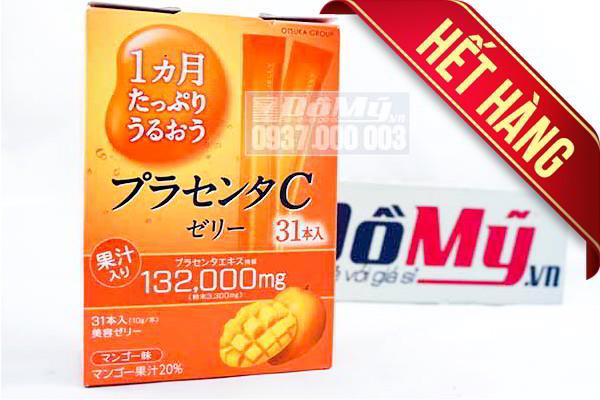 Thạch rau câu hương xoài Collagen Otsuka Skin C Japan Placenta Jelly 132000mg của Nhật