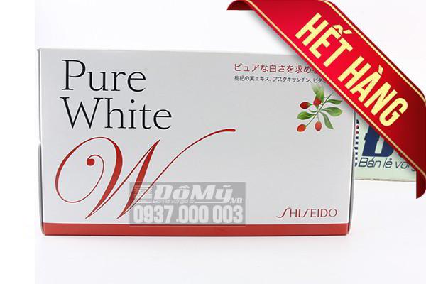 Nước uống làm trắng da toàn thân Pure White Shiseido của Nhật Bản (Mẫu Cũ)
