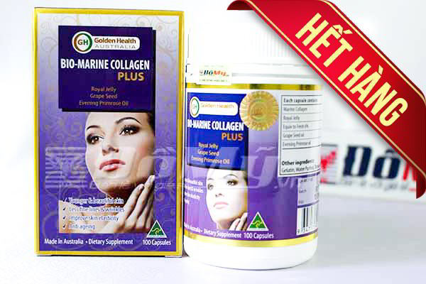 Viên uống dưỡng da  BIO-MARINE COLLAGEN PLUS Golden Health 100 viên của Úc