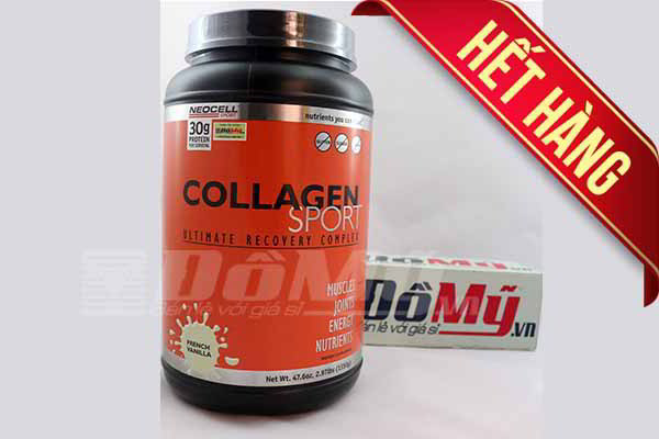 Neocell Collagen Sport Ultimate Recovery Complex French Vanilla 1350g nhập từ Mỹ