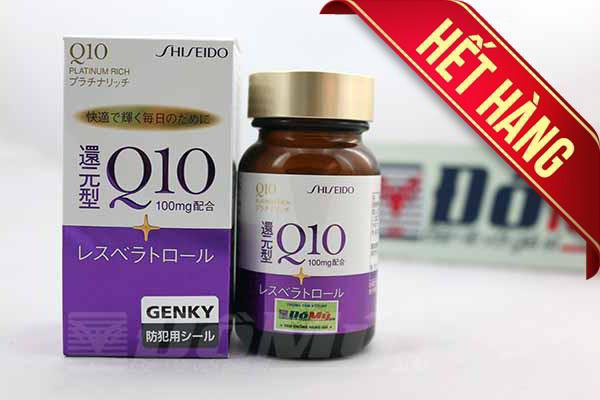 Viên uống ngăn ngừa lão hóa da bổ sung Q10 Platinum Rich Shiseido 60 viêm của Nhật Bản