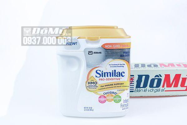 Sữa Similac Pro Sensitive HMO NON GMO hộp 964g của Mỹ