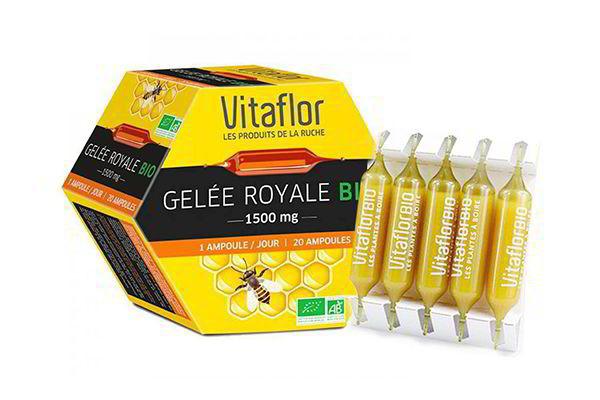 Sữa ong chúa Vitaflor Gelee Royale Bio 1500mg 20 ống của Pháp