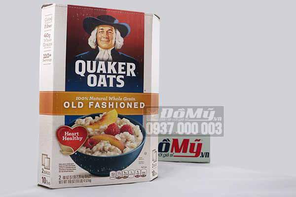 Yến mạch ăn liền nguyên chất Quaker Oats Old Fashioned hộp 4,52kg của Mỹ