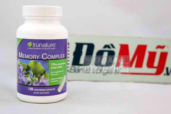 Thuốc uống tăng cường trí nhớ Trunature Memory Complex with Ginkgo Biloba 120 viên của Mỹ