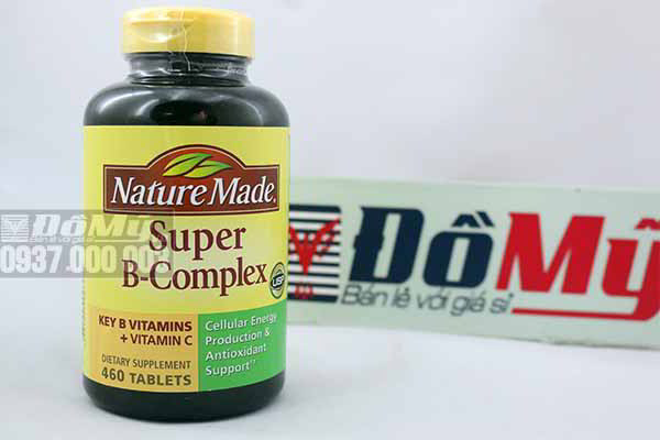 Viên uống bổ sung Vitamin B Nature Made Super B Complex của Mỹ