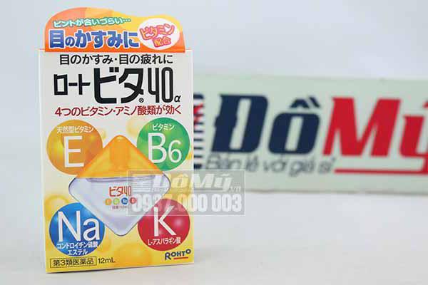 Thuốc nhỏ mắt Rohto Vita 40 12 ml của Nhật