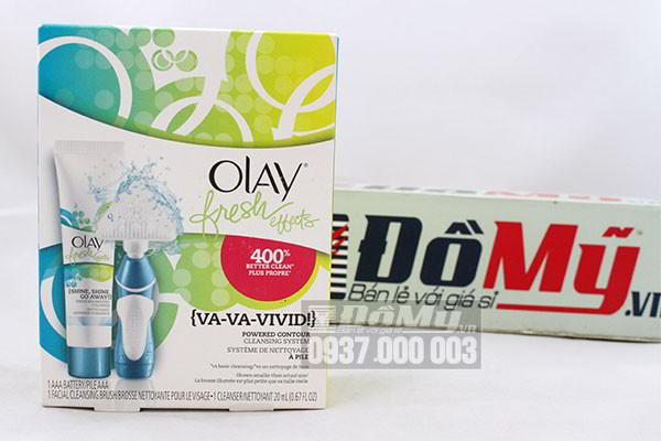 Set sữa rửa mặt và máy rửa mặt Olay Fresh Effects của Mỹ