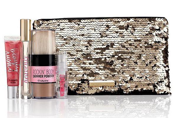 Bộ sản phẩm Gift set Victoria Secret Heavenly Bling Sequins Bag của Mỹ