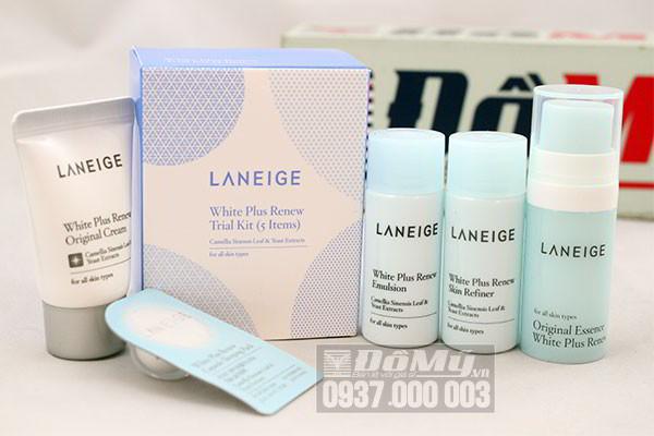 Bộ 5 sản phẩm dưỡng trắng da Laneige White Plus Renew Trial Kit của Hàn Quốc