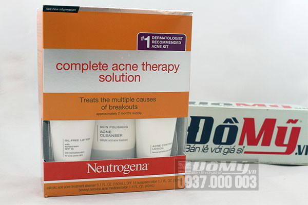 Bộ sản phẩm trị mụn Neutrogena Complete Acne Therapy Solutions của Mỹ